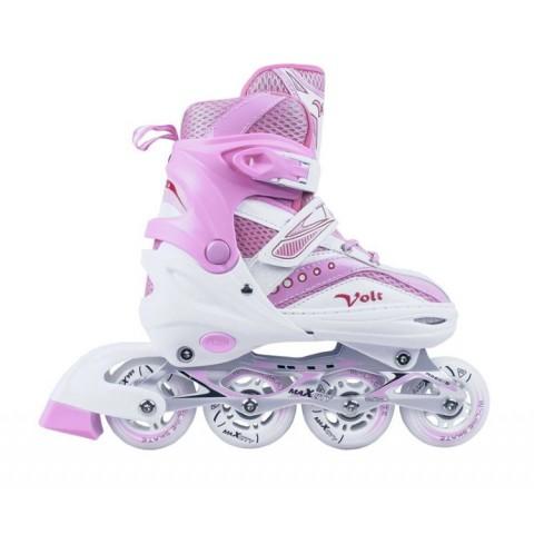 Роликовые коньки детские (раздвижные) MAXCITY VOLT combo pink