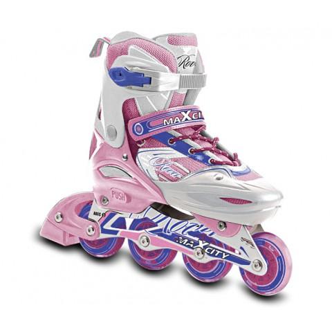 Роликовые коньки детские (раздвижные) MAXCITY Rover pink