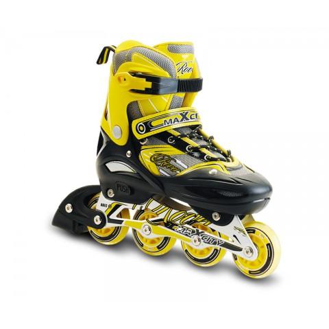 Роликовые коньки детские (раздвижные) MAXCITY Rover yellow