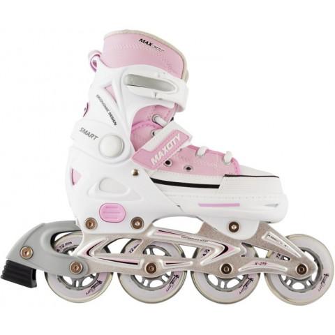 Роликовые коньки детские (раздвижные) MAXCITY Smart pink