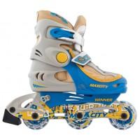Роликовые коньки детские (раздвижные) MAXCITY Winner blue