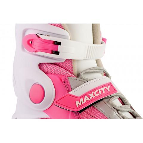 Роликовые коньки детские (раздвижные) MAXCITY Winner fuxia