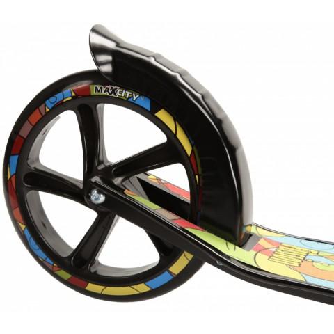 Самокат с большими колесами MaxCity MC Fusion черный