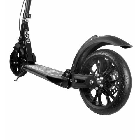 Самокат Hello Wood HW-RACER LUX черный c ручным тормозом