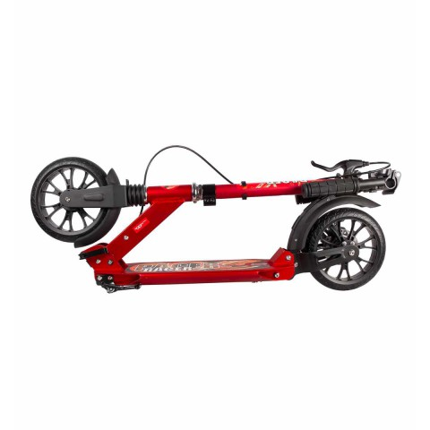 Самокат Hello Wood HW-RACER LUX красный c ручным тормозом