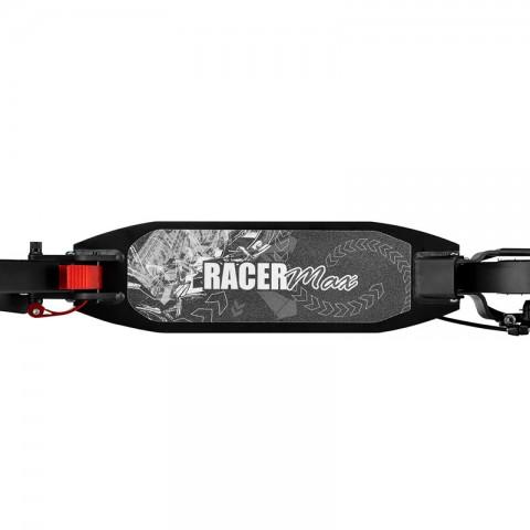 Самокат Hello Wood HW RACER MAX черный с надувными колесами