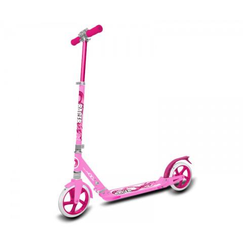 Самокат с амортизаторами Hello Wood HW-RACER pink