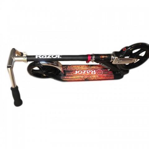 Самокат Razor A5 Lux Black Label с большими колесами