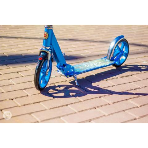 Самокат Razor A5 Lux синий с большими колесами