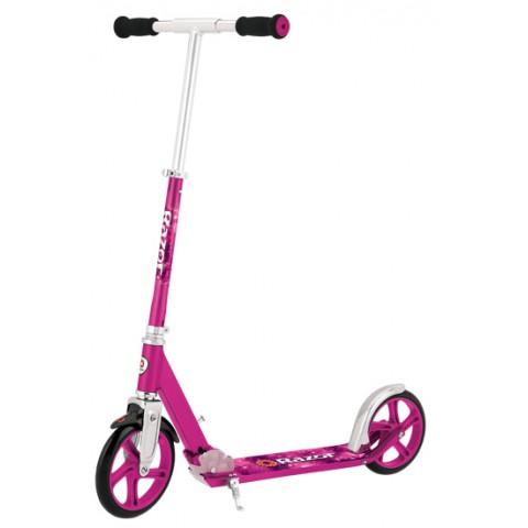 Самокат Razor A5 Lux розовый с большими колесами