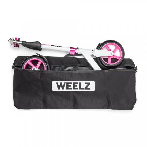 Самокат Weelz Twist розовый с сумкой