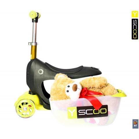 Самокат-каталка 3 в 1 Y-SCOO Mini Jump&Go со светящимися колесами