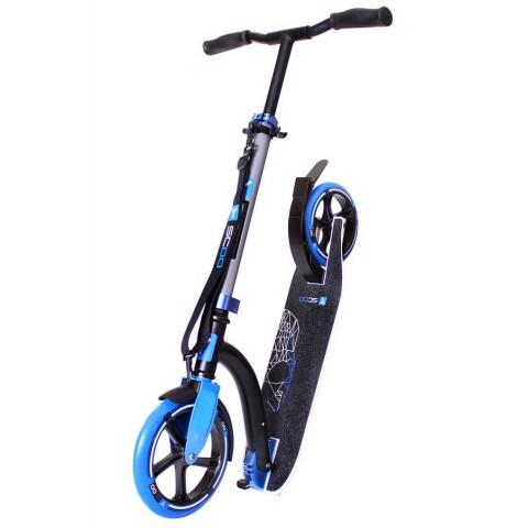 Самокат с большими колесами Y-SCOO RT 230 Slicker Family design Skull blue