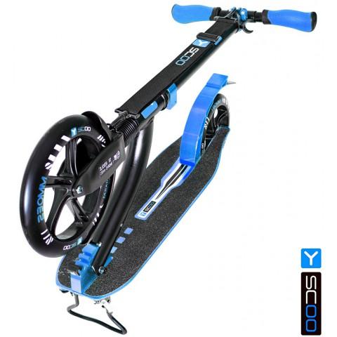 Самокат с амортизатором Y-SCOO RT 230 SLICKER DELUXE NEW Technology blue