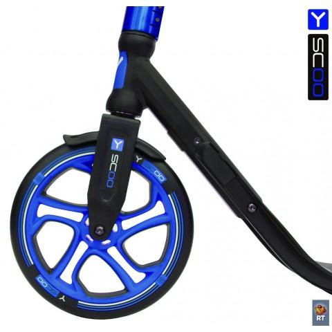 Самокат с большими колесами Y-Scoo RT 250 One&One синий