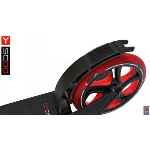 Самокат с большими колесами Y-Scoo RT 250 One&One красный