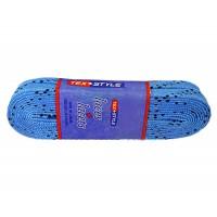Шнурки для коньков с пропиткой W924, пара, 2,74 м, голубые