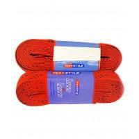 Шнурки для коньков с пропиткой W928, пара, 3,05 красные