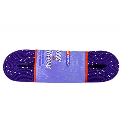 Шнурки для коньков с пропиткой W923, пара, 3,05 фиолетовые