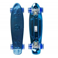 Мини-круизер MaxCity Plastic Board Metallic Small blue