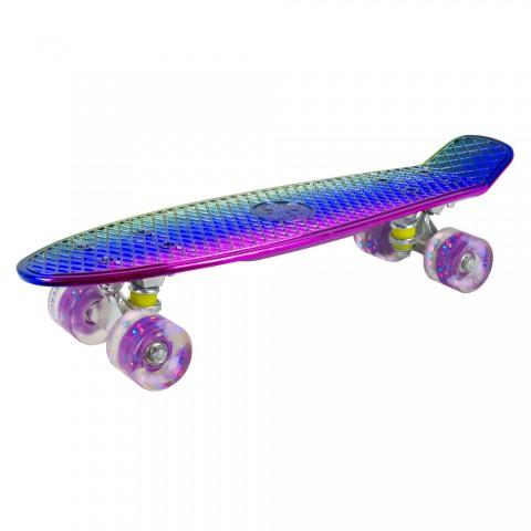 Мини-круизер Maxcity Plastic Board 3D small multy со светящими колесами