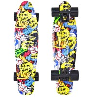 Скейтборд Y-SCOO Fishskateboard 22 с сумкой Cartoon