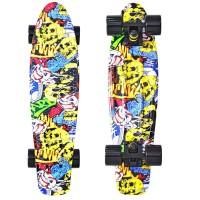 Скейтборд Y-SCOO Fishskateboard 22 с сумкой Cartoon
