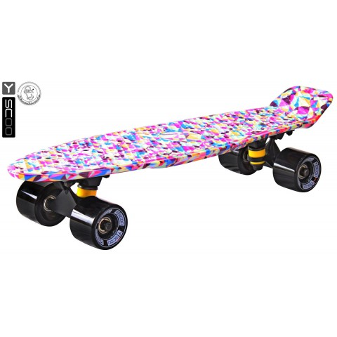 Скейтборд Y-SCOO Fishskateboard 22 с сумкой Rhombus