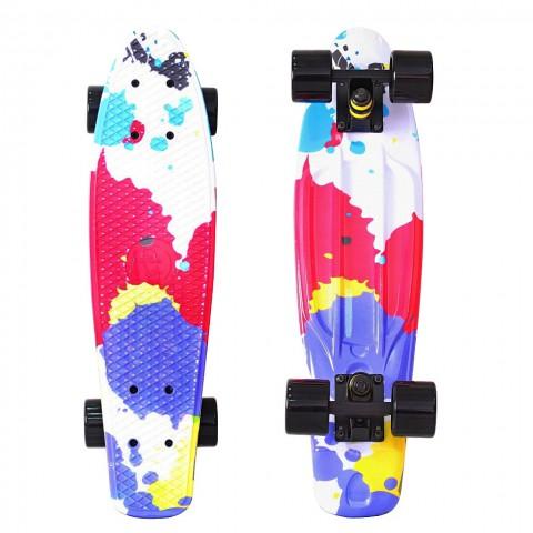 Скейтборд Y-SCOO Fishskateboard 22 с сумкой Splatter