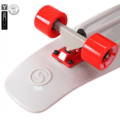 Мини-круизер Y-SCOO Big Fishskateboard 27 с сумкой grey/red