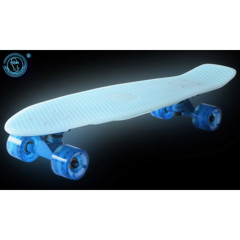 Скейтборд Y-SCOO Big Fishskateboard Glow 27 винил с сумкой blue