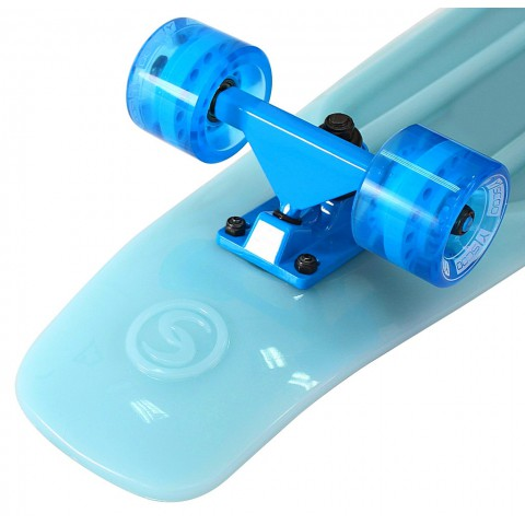 Скейтборд Y-SCOO Big Fishskateboard Glow 27 винил с сумкой blue