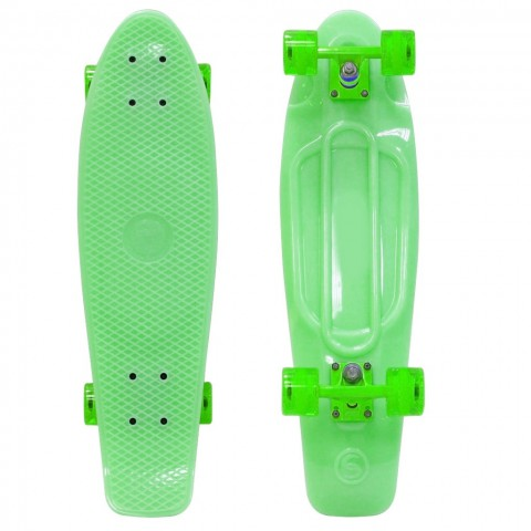 Скейтборд Y-SCOO Big Fishskateboard Glow 27 винил с сумкой green