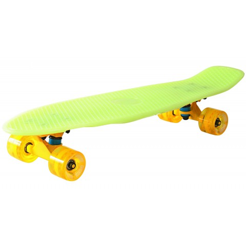 Скейтборд Y-SCOO Big Fishskateboard Glow 27 винил с сумкой yellow