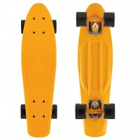 Скейтборд Y-SCOO Fishskateboard 22 с сумкой orange/black