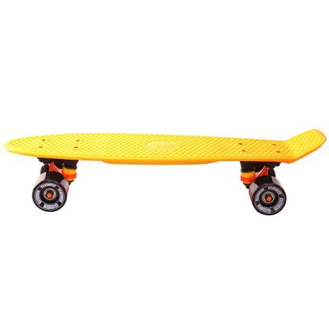Скейтборд Y-SCOO Fishskateboard 22 с сумкой orange/black