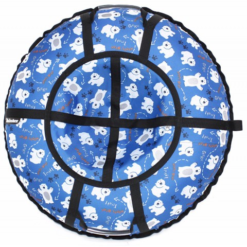 Тюбинг Hubster Люкс Pro Мишки синие 105 см