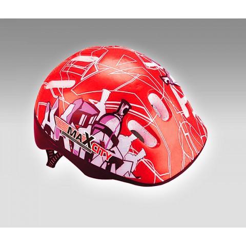 Шлем для роликов детский MAXCITY Baby City Red