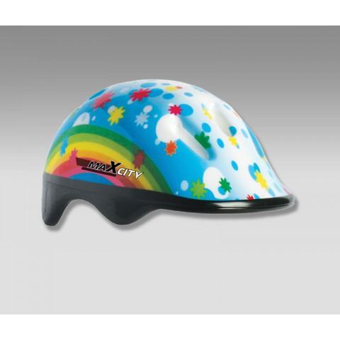 Шлем для роликов детский MAXCITY BABY Rainbow