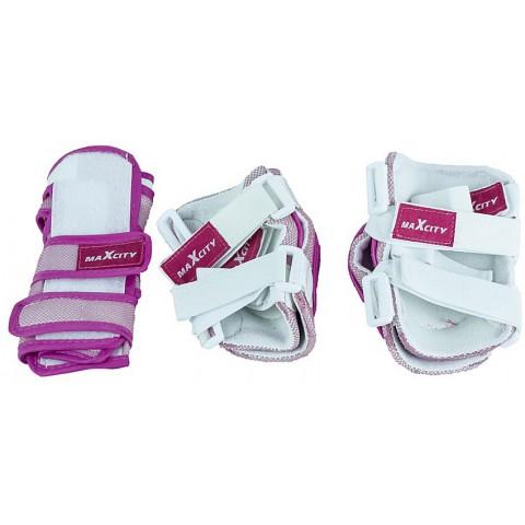 Защита для роликов детская MAXCITY COLOR pink