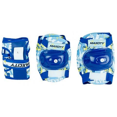 Защита для роликов детская MAXCITY TEDDY blue